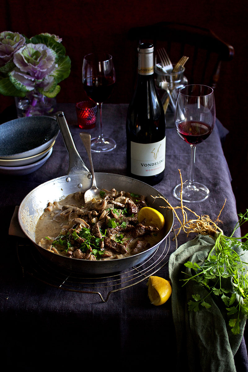 Beef Stroganoff Vondeling Red - Lizet Hartley Food Styling & Photography
