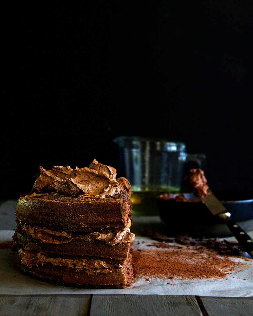 Chocolate Buttercream Cake - Lizet Hartley Food Styling & Photography