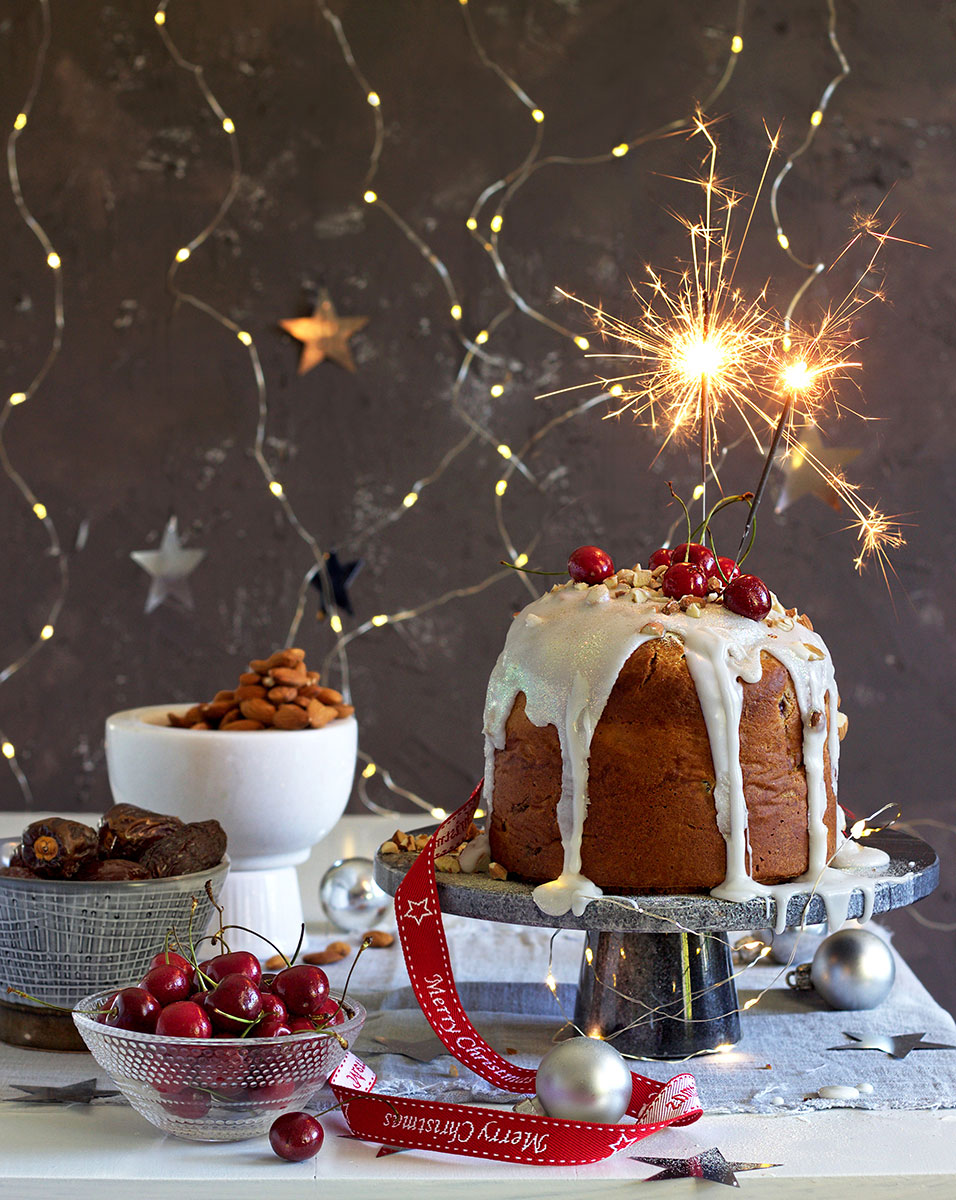 Christmas Cake with Fresh Produce - Lizet Hartley Food Styling & Photography