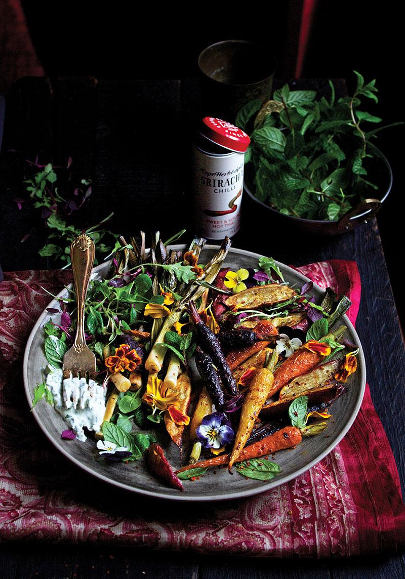 Sriracha Roast Root Veg Salad - Lizet Hartley Food Styling & Photography